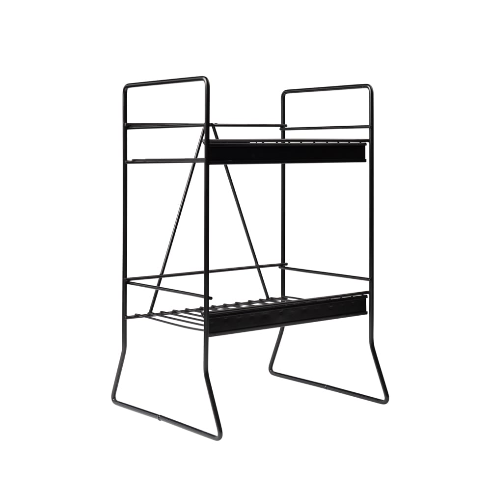 Counter-Display-2-Shelf-Black